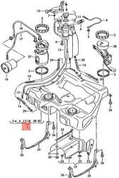 Genuine Fuel Tank With Attachments And Narrow Fuel Filler Neck 8n0201055aa