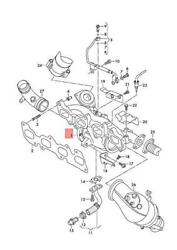 Genuine Vw Exhaust Manifold With Turbocharger 04l253014m