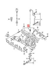 Genuine Vw Exhaust Manifold With Turbocharger 03l253016mx
