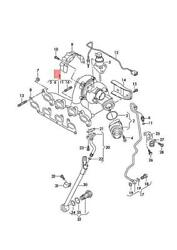 Genuine Vw Audi Seat Beetle Exhaust Manifold With Turbocharger 03l253010g
