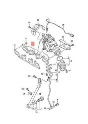 Genuine Vw Skoda Audi Seat Exhaust Manifold With Turbocharger 03l253016t
