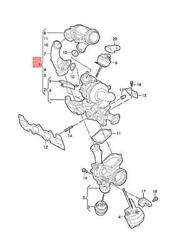 Genuine Vw Exhaust Manifold With Turbocharger 03n145703m