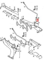 Genuine Audi 80 90 Avant Exhaust Manifolds Cylinders 1-3 Right 078253032ad