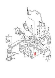 Genuine Vw Exhaust Manifold With Turbocharger See Illustration 03f145701r