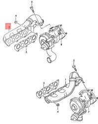 Genuine Audi A4 S4 Avant Exhaust Manifolds Cylinders 1-3 Right 078253034dk