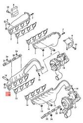 Genuine Audi Exhaust Manifolds Cylinders 1-4 Right 079253034f