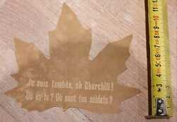 Original Ww2 French Leaflet And039je Suis Tombeeoh Churchill Leaf Of A Tree Unique
