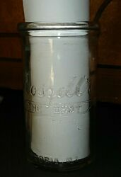 12 Ounce Glass Cottage Cheese Container Roszell's Dairy Peoria, Illinois