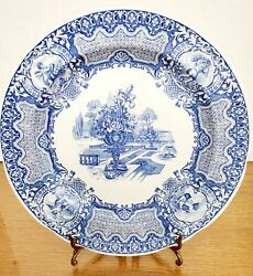Spode Blue Room Collection Seasons 10.5 Blue And White Plate Wonderful Condi