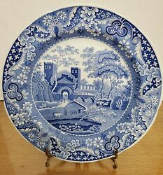 Spode, Englandblue Room Collection Castle Blue And White Porcelain 10.5 Plate