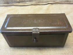 Vintage Fordson Tractor Toolbox Antique Old Iron Tool Box Farm Equipment 10158