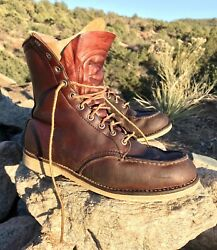 Vtg Menandrsquos 9.5 D Rare 1952 Red Wing Irish Setter Moc Toe Insulated Heritage 1001