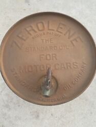 1920andrsquos Vintage Zerolene Standard Oil Company Of California Barrel Can Motor Sign