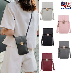 Cross body Touch Screen Cell Phone Wallet Women Shoulder Bag Leather Pouch Case $7.99