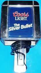 Working Vintage Coors Light The Silver Bullet Lighted Sign Wall Lamp