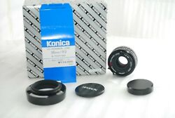 Rare Top Mint Boxedkonica Uc-hexanon 35mm F/2 For Leica L Only 1000 Made 3999
