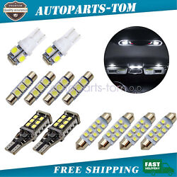 6000k Led Interior Lights Package License Fit For 2007-2013 Chevy Silverado 1500