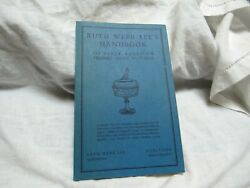 1946 Ruth Webb Lee Handbook Early American Pressed Glass Patterns Exc. Cond.