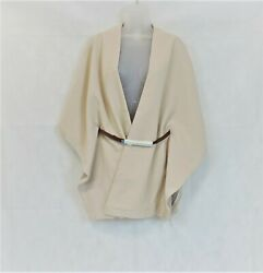 River Island Beige Belted Cape Beige Size Uk S/m Rrp £55 Dh098 Gg 08