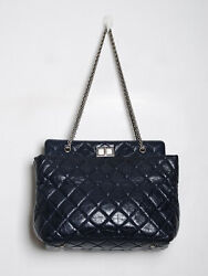2.55 Reissue Grand Shopping Shoulder Bag Chain Strap Quilted Handbag Tote