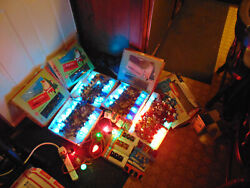Lots Vintage In And Outdoor 5 Strings Christmas Twinkle Lights Silver Stars Bulbs