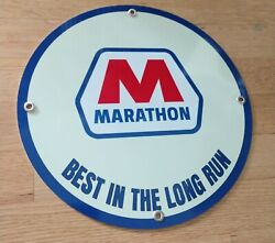 Marathon Gas Oil Gasoline Sign .. Free Shipping On Any 8 Signs