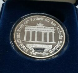 1989 Gem Proof German Re-unification 1 Ounce Pure Silver Medal