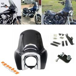 Headlight Fairing And 15'' Smoke Windshield For Dyna T-sport Fxr Fxdb Fxdf Fxdl
