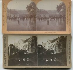 2 Stavanger Norway Stereoviews 1 From Myklebusts Studio Eagle Grove Iowa
