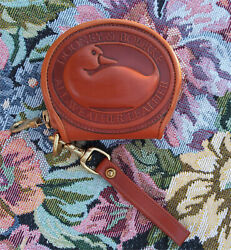 Vintage Dooney and Bourke Big Duck Coin Purse Solid British Tan U.S.A. $99.00
