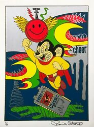 Ronnie Cutrone Mighty Mouse 1989 | Hand Embellished | Make An Offer | Gallart