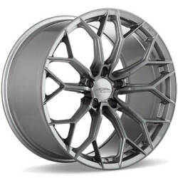 4 20 Staggered Ace Alloy Wheels Aff09 Brushed Face With Space Grey Tintb45