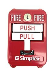 Simplex Sigcom Sgx-32sk1 Explosion Proof Manual Pull Station Dual Action Red