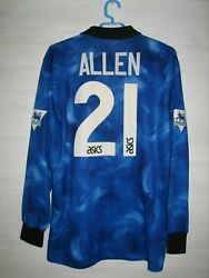 21 Malcolm Allen Newcastle United 1993-95 Away Shirt Asics Match Issue Size L