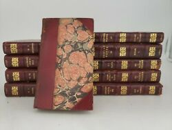 Antique 6 1807 British Poets 10 Marble Book Lot Watts Butler Shenstone Gay L4
