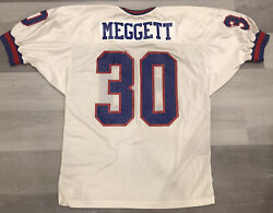Authentic Russell Dave Meggett New York Giants White Nfl Football Jersey Sz 48