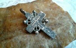 Antique C.18th Century Silver Old Believers Orthodox Sun Cross The Keeper