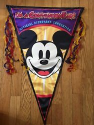 Disney World Prop Large Fabric Sign Flag Disneyana Convention Double Sided