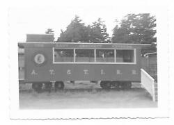 The Davy Crockett Express Train Caboose Real Black And White Photo 3'1/4 X4'5 Ex