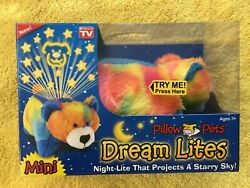 Peaceful Bear Dream Lites Mini Pillow Pets As Seen On TV NEW IN BOX
