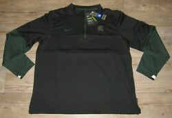 Nike Michigan State Spartans On-field Therma-fit Black 1/4 Zip Jacket Men's Xl