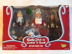 Santa Claus Is Comin To Town Figure Set Of 3 Burgermeister, Grimsley, Tanta