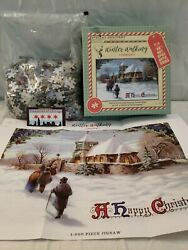 Winter Walking Jigsaw Puzzle Delivery From Santa 1000 W/poster Christmas Xmas