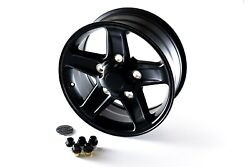 18 Satin Black Wheels Kit - Set Of 5 - Land Rover Defender, Discovery 1 And Rrc