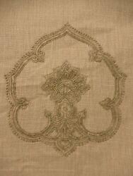 Travers Pomegranate - Wheat Embroidered Fabric Remnants. Nice Pieces