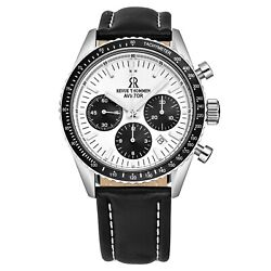 Revue Thommen 17000.6532 And039aviatorand039 Leather Strap Chronograph Automatic Watch