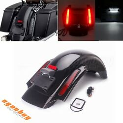 Cvo Style Rear Fender W/ Red Lens Led System For Harley Touring Models 2009-2013
