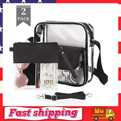 Clear Purse Crossbody Bag NFL amp; PGA Stadium Approved Clear Tote Bag for Women $14.99
