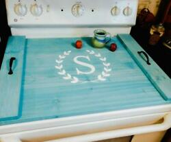Farmhouse Personalized Stove Cover - Choose Oven, Sink, Or Serving Tray Option