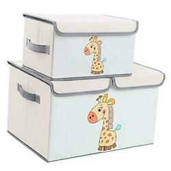 Toy Chest with Lid Large Kids Toy Storage Box Decorative Toy Organizers Beige